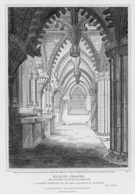 Roslyn Chapel, view of the altars at the east end looking north, engraved by Samuel Lacey, 1811 Postcards, Greetings Cards, Art Prints, Canvas, Framed Pictures, T-shirts & Wall Art by James Elmes