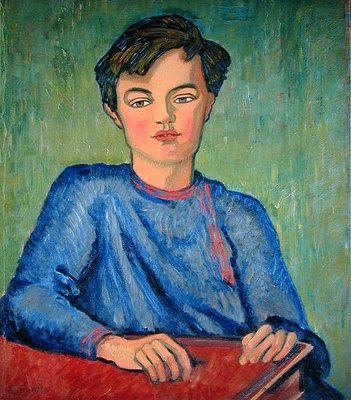 Portrait of Julian, the Artist's Son, aged 10, 1911 Wall Art & Canvas Prints by Roger Eliot Fry