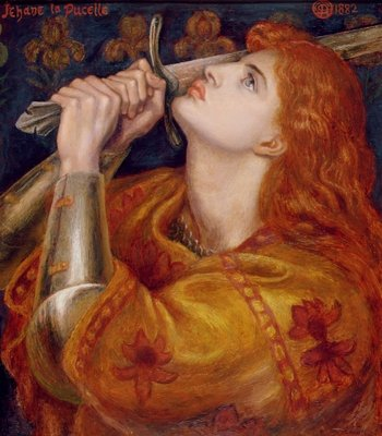 Joan of Arc, 1882 (oil on panel) Fine Art Print by Dante Gabriel Charles Rossetti