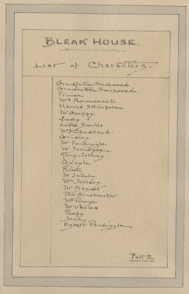 List of Characters, c.1920s (pen & ink with w/c on paper) Fine Art Print by Joseph Clayton Clarke