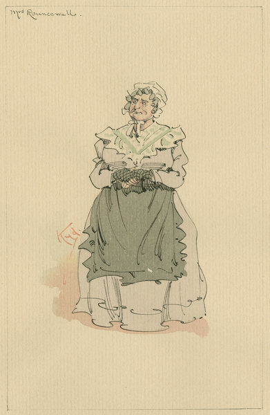 Mrs Rouncewell, c.1920s (pen & ink with w/c on paper) Fine Art Print by Joseph Clayton Clarke