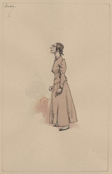 Judy Smallweed, c.1920s (pen & ink with w/c on paper) Fine Art Print by Joseph Clayton Clarke