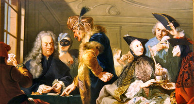 Gamblers in the Foyer Poster Art Print by Johann Heinrich Tischbein