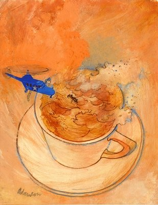 Storm in a teacup, Fine Art Print by George Adamson