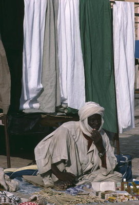 Vendor on the market place Fine Art Print by Anonymous