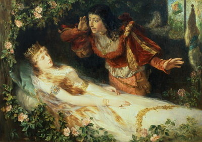 Sleeping Beauty, 1881 Wall Art & Canvas Prints by Richard Eisermann