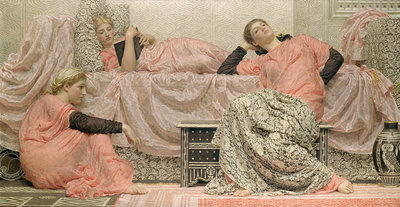 Reading Aloud, 1884 Fine Art Print by Albert Joseph Moore