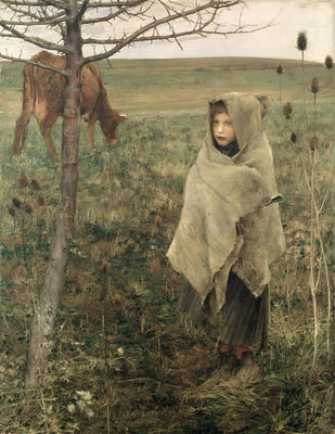 Poor Fauvette, 1881 Wall Art & Canvas Prints by Jules Bastien-Lepage