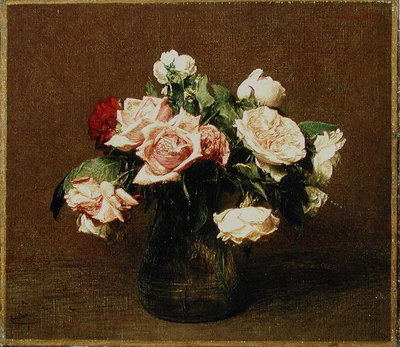 Roses 'La France', 1895 Wall Art & Canvas Prints by Ignace Henri Jean Fantin-Latour