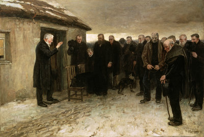 A Highland Funeral, 1882 Fine Art Print by Sir James Guthrie
