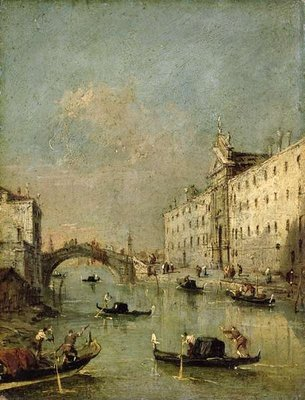 Venice, Il Rio dei Mendicanti Poster Art Print by Francesco Guardi