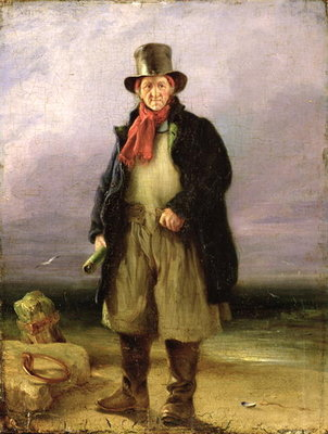 The Old Pilot, 1837 Fine Art Print by Henry Perlee Parker