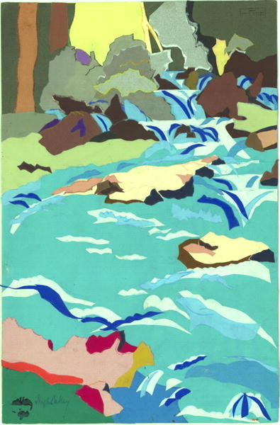 Torrent at Flims Fine Art Print by Hugh Bulley