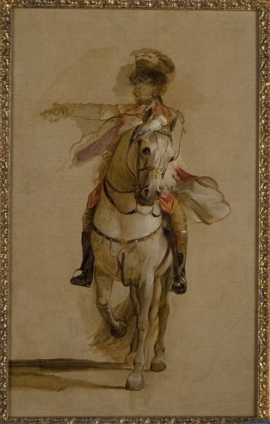 General George Augustus Eliott on a Grey Charger, study for 'The Siege of Gibraltar'. c.1787 Fine Art Print by John Singleton Copley