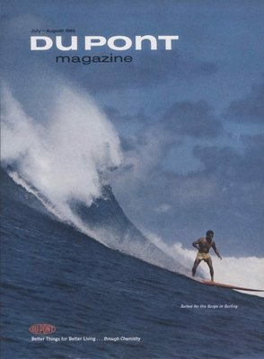 Suited for the Surge in Surfing, front cover of 'The Du Pont Magazine', July-August 1965 (colour litho) Wall Art & Canvas Prints by American School