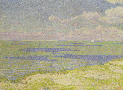 View of the River Scheldt, 1893 Poster Art Print by Theo van Rysselberghe