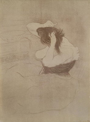 Woman combing her hair, from 'Elles', 1896 Fine Art Print by Henri de Toulouse-Lautrec