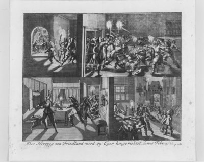 The Assassination of Albrecht von Wallenstein, Duke of Friedland, at Eger, 15th February 1634, 1726 Fine Art Print by German School