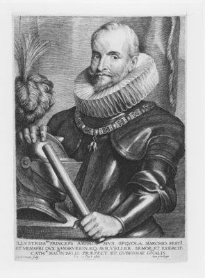 Portrait of General Ambrosio Spinola, engraved by Lucas Emil Vorstermann, 1638 Fine Art Print by Sir Anthony van Dyck