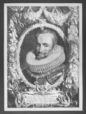 Portrait of Ambrosio Spinola, engraved by Jacob Louys, published by Pieter Claesz Soutman, between 1640-1657 Fine Art Print by Sir Anthony van Dyck