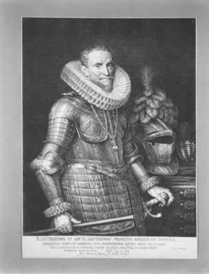 Half-length portrait of Don Ambrosio Spinola Fine Art Print by Michiel Jansz. van Mierevelt