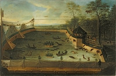 Imperial Hunt in the Park of Schwetzingen, 1730 Fine Art Print by Jacobus Schlachter