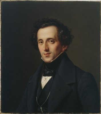 Portrait of Felix Mendelssohn, Duesseldorf, 1834-35 Wall Art & Canvas Prints by Ferdinand Theodor Hildebrandt