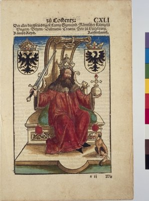 Portrait of Sigismund, Holy Roman Emperor, from Chronik des Konstanzer Konzils Fine Art Print by Joerg the Elder Breu
