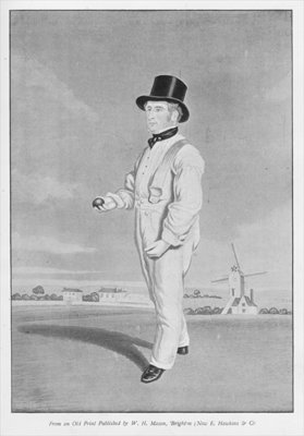 Old Lillywhite, from an old print published in 'Famous Cricketers and Cricket Grounds', published by Hudson and Kearns, 1895 Fine Art Print by English School