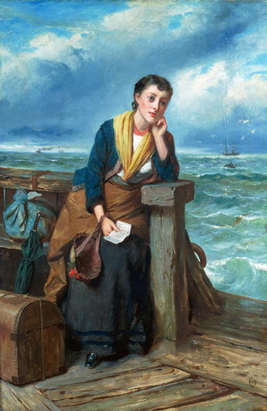 The Emigrant, c.1860 Wall Art & Canvas Prints by Edward Charles Barnes
