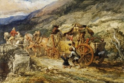 Stage Coach of the Last Century, 1855 Fine Art Print by Sir John Gilbert