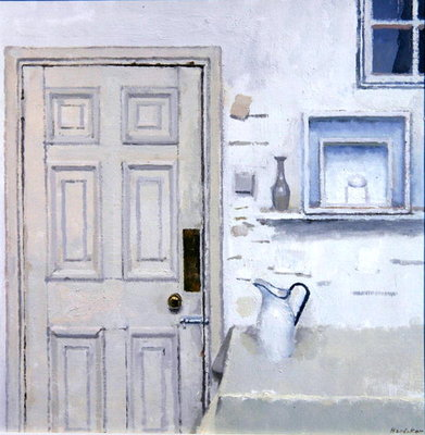 Meditation on Door II, 2004 (oil on canvas) Postcards, Greetings Cards, Art Prints, Canvas, Framed Pictures, T-shirts & Wall Art by Charles E. Hardaker