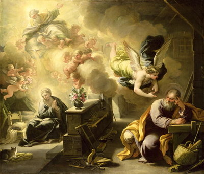 The Dream of St Joseph, c.1692-1702 Wall Art & Canvas Prints by Luca Giordano