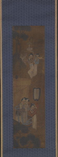 Five women in a Procession Fine Art Print by Chinese School