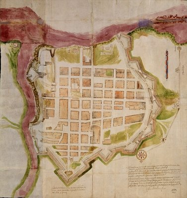 The City of Santo Domingo, 1608 Fine Art Print by Spanish School