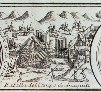 Battle of Anaquito, 1726 Fine Art Print by Spanish School