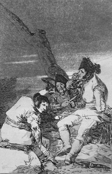 193-0082111 Lads making ready, plate 11 of 'Los caprichos', pub. 1799 Fine Art Print by Francisco Jose de Goya y Lucientes