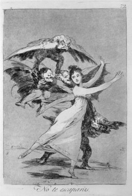 193-0082172 You will not escape, plate 72 of 'Los caprichos', 1799 Fine Art Print by Francisco Jose de Goya y Lucientes