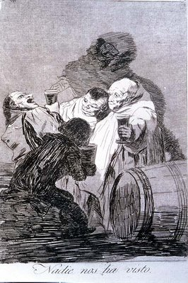 193-0082179 No one has seen us, plate 79 of 'Los caprichos', 1799 Fine Art Print by Francisco Jose de Goya y Lucientes