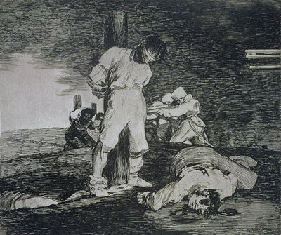 And there's no help for it, plate 15 of 'The Disasters of War', 1810-14, pub. 1863 Fine Art Print by Francisco Jose de Goya y Lucientes