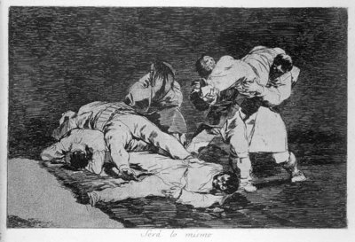 It will be the same, plate 21 of 'The Disasters of War', 1810-14, pub. 1863 Fine Art Print by Francisco Jose de Goya y Lucientes
