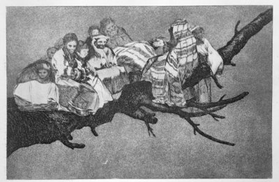 Ridiculous dream, plate 3 of 'Proverbs', 1819-23, pub. 1864 Fine Art Print by Francisco Jose de Goya y Lucientes