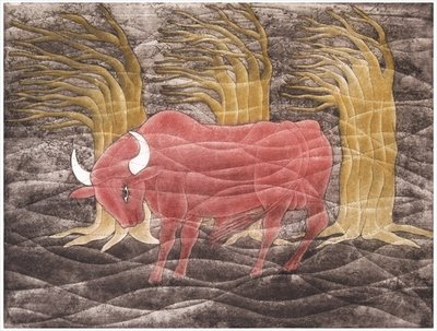 Bull in the Wind, 2001 Wall Art & Canvas Prints by Juan Alcazar