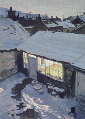 Winter Evening - My Studio Fine Art Print by John Cooke