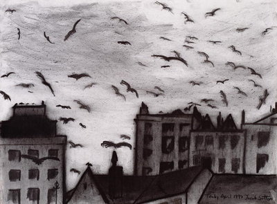 Tenby, 1994 (charcoal on paper) Fine Art Print by Jacob Sutton