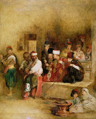 A Tartar Messenger Narrating the News of the Victory of St. Jean D'Acre, 1840 Postcards, Greetings Cards, Art Prints, Canvas, Framed Pictures, T-shirts & Wall Art by Sir David Wilkie