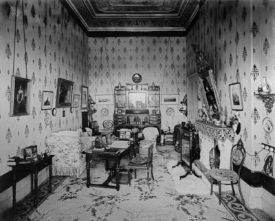 The Queen's Sitting Room, Villa Clara, c.1870-80 Fine Art Print by English Photographer
