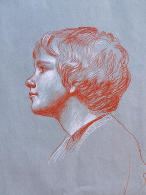 Profile of Edward Gorst aged 10, 2008 Fine Art Print by James Gillick