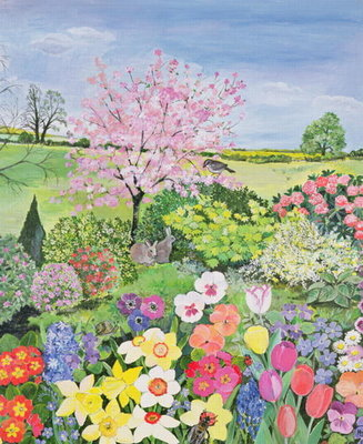 Spring from the Four Seasons Poster Art Print by Hilary Jones