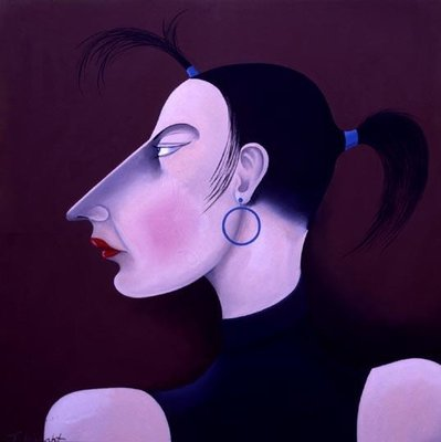 Women in Profile Series, No. 1, 1998 Fine Art Print by John Wright